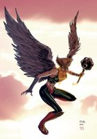 Hawkgirl - Soul colors by SpiderGuile