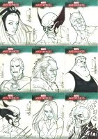 Marvel Masterpieces cards by UnderdogMike