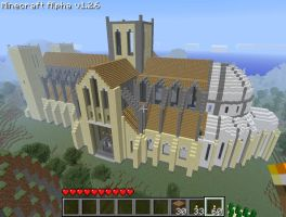 Minecraft Cathedral by pdurdin
