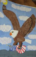 Bald Eagle with Flag by MarinaMoon