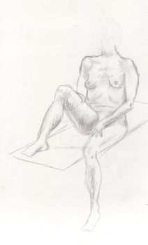 Nude Quick Sketch by devinegrace