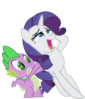 Rarity and Spike by JoeMasterPencil
