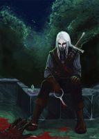 Geralt is a hunter by Shinanai