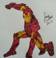 Ironman Sketch Finished by wulf008