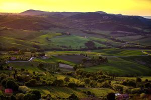Sunset Over Val d'Orcia by CitizenFresh