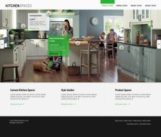 Kitchen Spaces, Homepage by PeaceLoveDesign