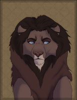 Portrait of a lion by Soldjagurl