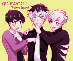 ME!ME!ME! x tokyo ghoul by cakey-face