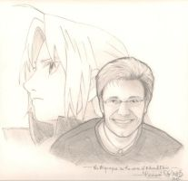 Vic Mignogna Drawing by onionhead1