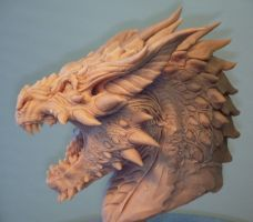 Smaug -concept bust view3 by Skull-Droid