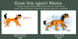Draw this again! meme - Tiffany by TigaLioness