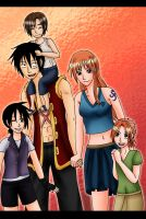 Luffy x Nami - Family by Kaschra