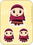 Adzra - Cute Girl with Hijab by dzinc