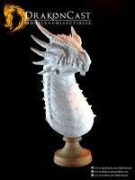 Spined Dragon bust 1- resin cast by drakoncast