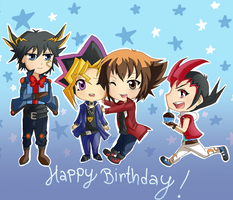 Happy birthday Yugi-san by Haoiki