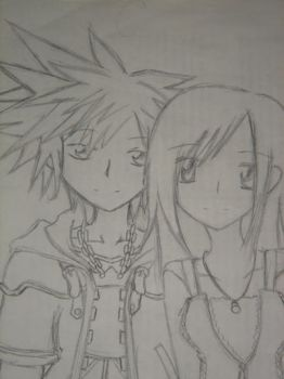 Sora and Kairi Request by Heatherv816