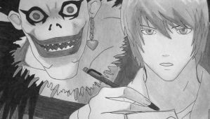 Ryuk and Light Yagami- Death Note by Blablablashalala
