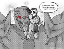 Qualitytime with the nephew- MEG/Atlas TFP:E.A by YukiOni