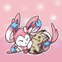 700 Silveon and 778 Mimikyu by Noire73
