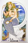 Mermaid with Mirror by rosalarian