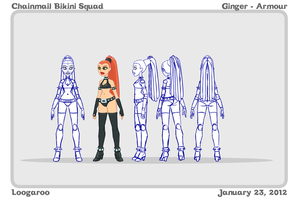 Chainmail Bikini Squad ModelSheet - Ginger by Aphismet