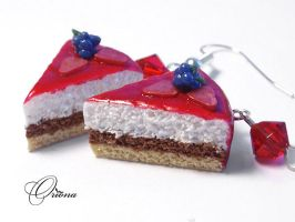 """""""Cake with Blackberry"""" by OrionaJewelry"""