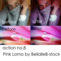 action no.8- lomo pink by bellalleb-stock