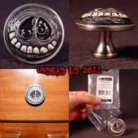 Tim Burton Styled Ghost knob by Undead-Art
