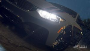 BMW F32 M4 (Rain closeup) by RZ-028-Hellblaze