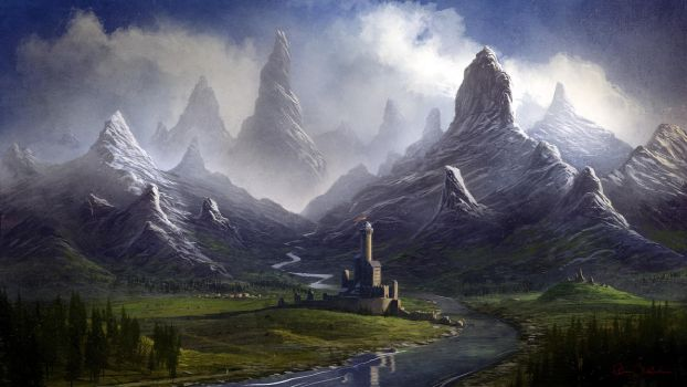 Twisted Mountain Valley by Balaskas