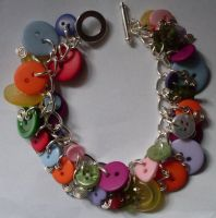 button charm bracelet by MadDani