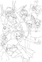 TEACUP 100 - group lineart by AngelsTale