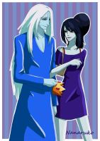 Ice King and Marceline - Adventure Time by Nanaruko
