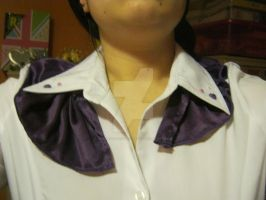 Pleated blouse collar by HowlerTheEvilKitten1