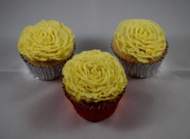 Flower Cupcakes by sparks1992