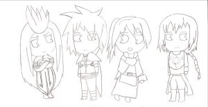 Tales Chibis (uncolored) by angelsoflight