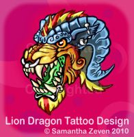 Lion Head Tattoo Design by The-Monstrum