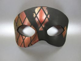 Red, Bronze, and Gold Stained Glass Tiled Mask by maskedzone