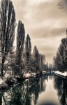 Winter River HDR by Creative--Dragon