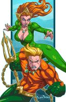 Aquaman and Mera by LordWilhelm