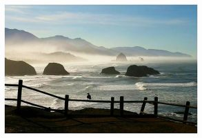 Canon Beach Sunrise by La-Vita-a-Bella