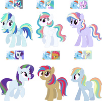 Crack Shipping Adopts- Rainbow Dash Edition CLOSED by Violet-BlueAdopts