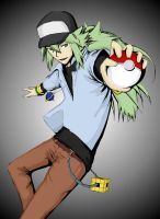 Pokemon Trainer N by StudioGhibliRocks