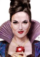 Lana Parrilla as The Evil Queen by tanjadrawing