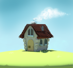 My lil house in the middle of nowhere by Spirited-Violet