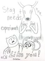 Stag Needs Experiments Like You! by komi114