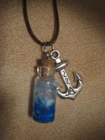 Bottled Sea Foam Necklace by CuriousFen