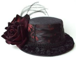 Roses and Lace Top Hat by VictorianRedRose