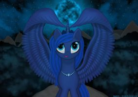 The Night of The Blue Moon by Sapphire---Dream