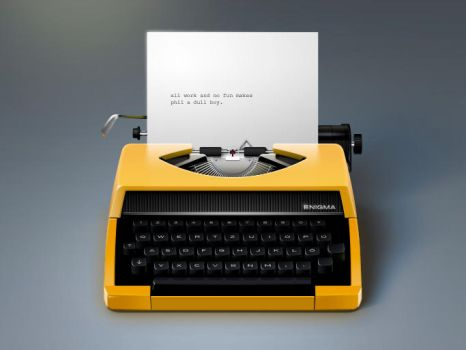 Little TypeWriter Icon by philippdatz